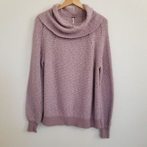 Free People Oversized Cowel Neck Sweater S